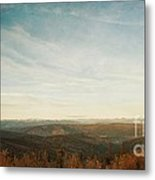 Mountains As Far As The Eye Can See Metal Print by Priska Wettstein