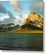 Mountains At Many Glacier Metal Print