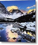 Mountains In The Winter Metal Print