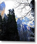 Mountains Of Yosemite . 7d6213 Metal Print by Wingsdomain Art and Photography
