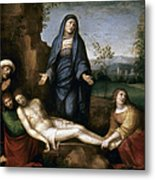 Mourning Over Dead Christ Metal Print