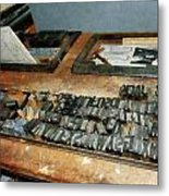 Movable Type Metal Print