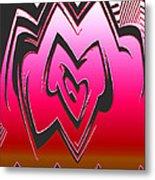 Moveonart Abstractheart Metal Print