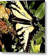 Moveonart Yellowbutterflyfriend Metal Print