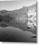Mowich Lake Mono Print Metal Print