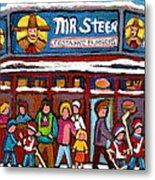 Mr Steer Restaurant Montreal Metal Print