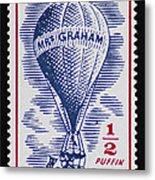 Mrs Graham The Balloonist Metal Print
