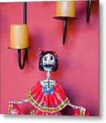 Ms. Day Of The Dead Metal Print