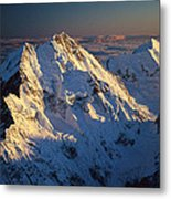 Mt Cook Or Aoraki And Mt Tasman, Aerial Metal Print