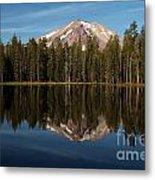Mt Lassen In Summit Lake Metal Print