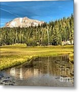 Mt Lassen Reflections Metal Print