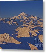 Mt. Mckinley Sunset From Above Metal Print
