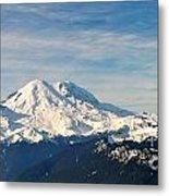 Mt Rainier Panoram Metal Print