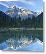 Mt Robson Highest Peak In The Canadian Metal Print by Tim Fitzharris