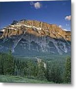 Mt Rundle And The Bow River Metal Print