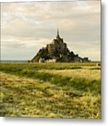 Mt Saint Michel At Sunset Metal Print