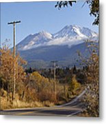 Mt Shasta Autumn Metal Print