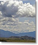 Mt Shasta On A Showery Spring Day Metal Print