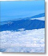 Mt Tamalpais From The Air Metal Print