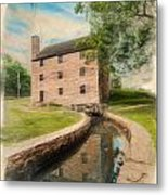 Mt. Vernon Gristmill Art Metal Print by Jim Moore