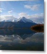 Mud Lake Reflection Metal Print