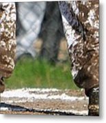 Mud On The Cleats Metal Print