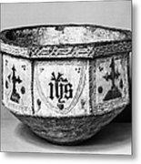 Mudejar Baptismal Font Metal Print