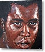 Muhammad Ali Formerly Cassius Clay Metal Print