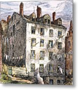 Mulberry Street, Nyc, 1873 Metal Print