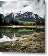 Muleshoe Pond Train Metal Print