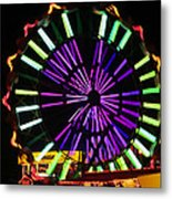 Multi Colored Ferris Wheel Metal Print