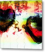 Multi Colored Hearts Metal Print