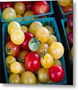 Multicolored Baby Tomatoes Metal Print