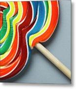 Multicoloured Lollipop, Close-up Metal Print