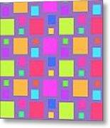 Multicoloured Squares Metal Print