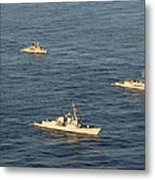 Multinational Navy Ships Move Metal Print