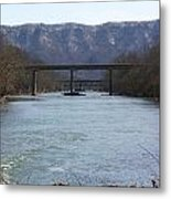 Multiple Bridges Crossing The Holston River Metal Print