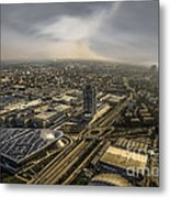 Munich From Above - Vintage Part Metal Print