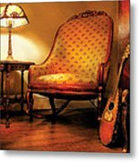 Music - String - The Chair And The Lute Metal Print