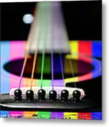 Music Is A Rainbow To The Heart Metal Print by Andee Design
