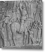 Mussolini, Haut-relief Metal Print by Photo Researchers