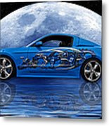Mustang Reflection Metal Print