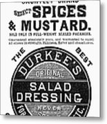 Mustard Ad, 1889 Metal Print
