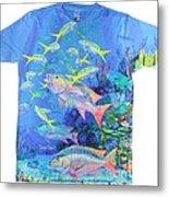 Mutton Snapper Mens Shirt Metal Print