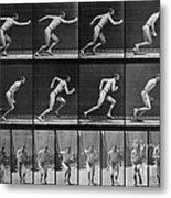 Muybridge Locomotion, Man Running, 1887 Metal Print