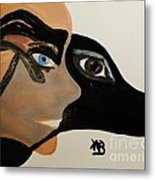 My Beloved Greyhound And Me Metal Print by Marie Bulger