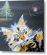 My Calico Cat Wizard Metal Print