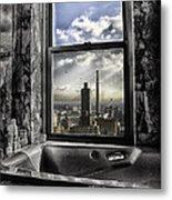 My Favorite Channel Is Manhattan View Metal Print by Madeline Ellis