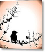 My Little Birdie Metal Print