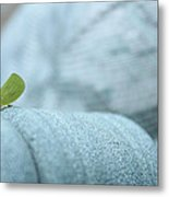 My Little Green Friend Metal Print by Nina Mirhabibi